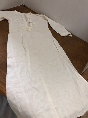 "Vintage Baby Soft Cotton 26"" Long Night Shirt Dress Handmade"