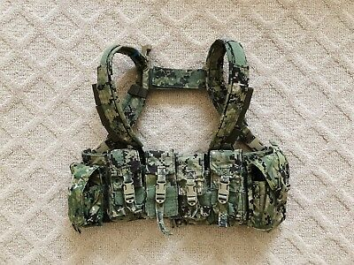 USED Eagle Industries AOR2 Multi-Purpose Chest Rig MPCR Vest 5A2 1961G Navy SEAL