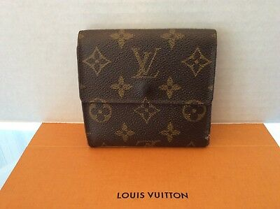 Louis Vuitton monogram Porte Monnaie Billets Elise Wallet Authentic TH 0917 VTG