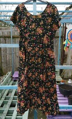 80s 90s Vintage Dress All That Jazz Made In Usa Grunge Fl