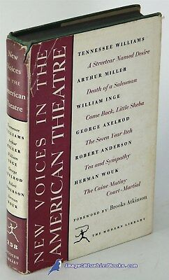 New Voices in American Theatre: WILLIAMS/MILLER/WOUK+ Modern Library HC/DJ 81829