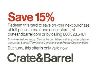 Crate And Barrel 15% Off Entire In Store Online Purchase-C0Upon Inc Furniture