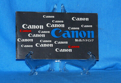 Canon 1965 Catalog In Japanese  First Camera Listed Is The Canon Pellix Rare