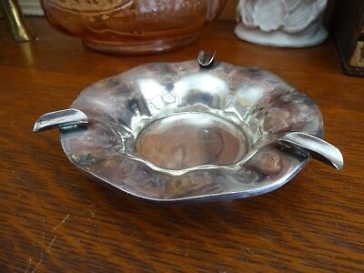 Vintage 925 Sterling Silver Mexican Ashtray ~ GSB ~ 153 Grams / Over 5 Ounces