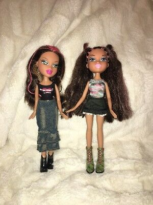 Lot #10- Bratz Dolls- Two Girls- Dressed With Shoes