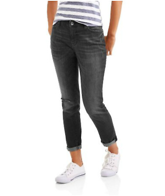 Faded Glory Women's Girlfriend Jean With Destructed Detail Various Sizes