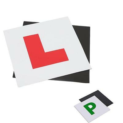 4 X Magnetic L Plates Car Learner Sign P Plates Pass Sign Vehicle Sticker
