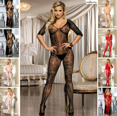 Catsuit Dessous Netz Body Teddy Reizwäsche Body Stocking | Xs-L |H3031-Hh