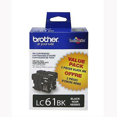 Brother LC612PKS 2-Pack 450 Pages Standard-Yield Black Ink Cartridge