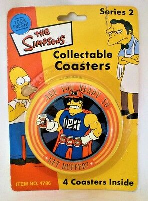 SIMPSONS COASTER SET SERIES 2 NEW SLIGHTLY DAMAGED PACKAGING blister carded