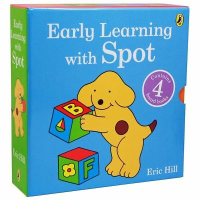 NEW Early Learning with Spot 4 Board Books Set Eric Hill *FREE AU SHIPPING*
