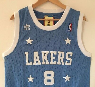 separation shoes f04a9 da2b5 Kobe Bryant Los Angeles Lakers Adidas Swingman Throwback Stitched Jersey NWT