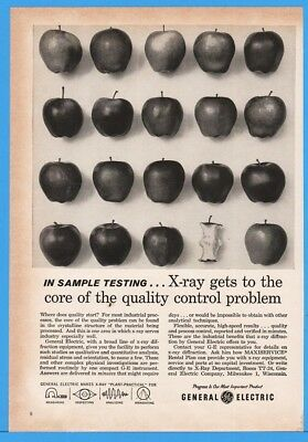 1962 General Electric GE Radiation Electronics Xray X-ray Quality Testing Ad