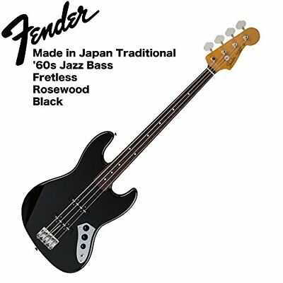 Fender Made in Japan Traditional '60s Jazz Bass Fretless BLK Base with VOX ampli