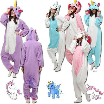 New Adult Unisex Pajamas Animal Cosplay Costume Unicorn Sleepwear Onesie11 Fancy