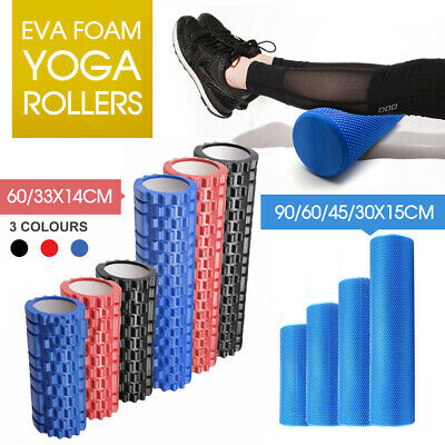 Eva Physio Foam Roller Yoga Pilates Exercise Back Home Gym Massage 30/45/60/90Cm