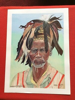 48 X Best Quality Prints Of'Azande Witchdoctor'All The Same-Signed By Painter