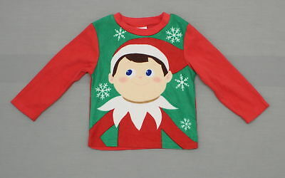 New Elf On a Shelf Youth Christmas Holiday Pajama Sleep Shirt Red XS