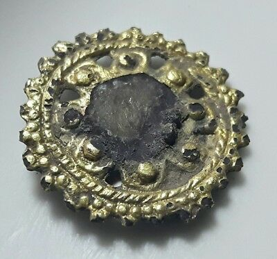 Gold Plated BYZANTINE APPLIQUE ** 21 mm Diameter ** RARE