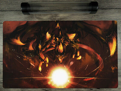 Blaster, Dragon Ruler of Infernos YuGiOh Playmat TCG Mat Free High Quality Tube