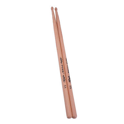1 Pair Hickory Drum Sticks 5A Wood Tip Drumsticks for Students Performance