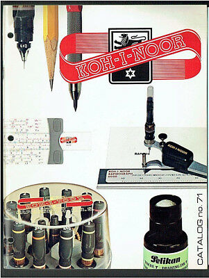 KOH-I-NOOR Rapidograph Professional Drawing Pens Products Vintage 1971 Catalog
