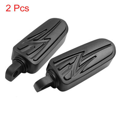 2pcs Aluminum Alloy Rubber Motorcycle Foot Pegs Footrest Pedal Black for Harley