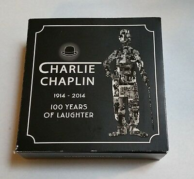 2014 Charlie Chaplin 100 Years Of Laughter 1 Oz. Silver Lenticular Coin In Box