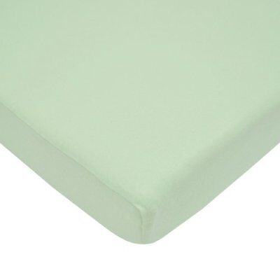 TL Care 100% Cotton Value Jersey Knit Fitted Portable/Mini-Crib Sheet, Celery