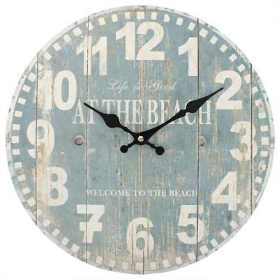 Wall Clock Metal XXL 60cm round USA Aspen Vintage Shabby Retro Used Look