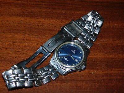 dans l'état FESTINA 8840 BLEUE BLUE Watch for parts MONTRE pour PIECES bracelet