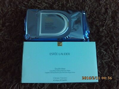 Estee Lauder Double Wear Long-wear makeup remover wipes (45 wipes)