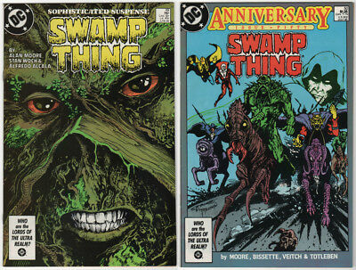Swamp Thing #49 & #50 VF+ 1986 DC Comics Alan Moore 1st app Justice League Dark