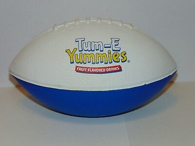 Tum-E Yummies Fruit Flavored Drinks foam football promotional HTF Pre-owned
