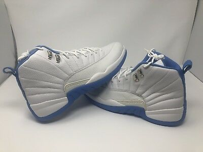 Ds 2004 Air Jordan Retro Xii 12 Size 13 White/university Blue-Met Slvr Brand New