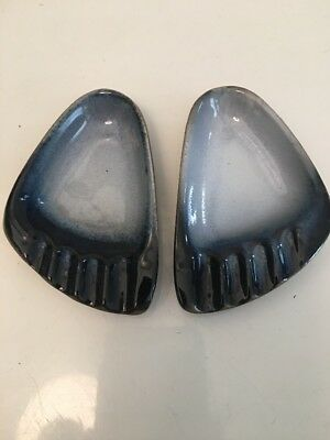 Peter Pots Pottery Feet Foot Ashtray Set Of 2