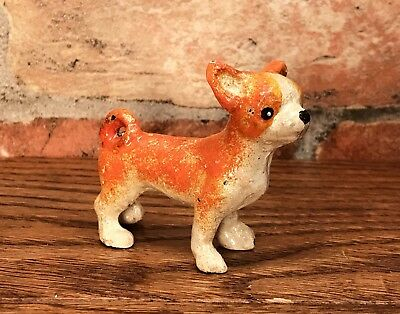 Cast Iron Miniature CHIHUAHUA Collectible Dog Figurine Paperweight