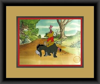 Walt Disney L/ED Winnie the Pooh Animation Sericel Custom Framed FREE SHIPPING