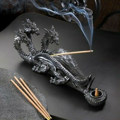 Dragon Crest - Triple-Head Dragon Incense Burner