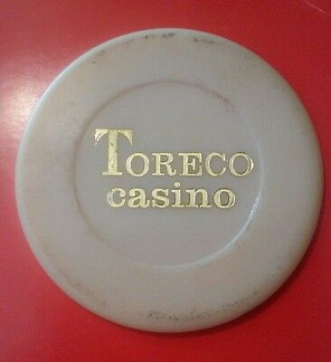 Toreco Casino Off - White Poker Chip From Europe Location Unknown?