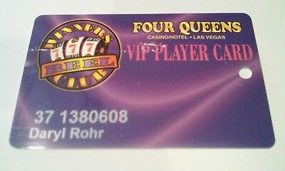 Four Queens Hotel Casino Las Vegas, Nevada Vip Slot Players Card!