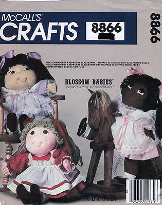 McCalls 8866 - Sculptured Dolls Patterns