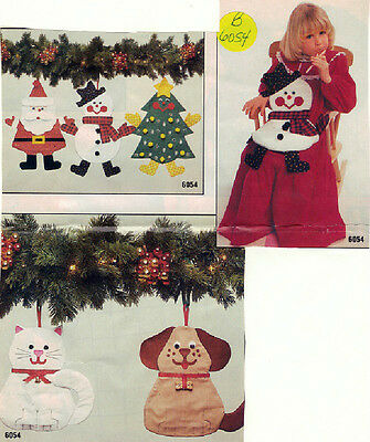 Butterick 6054 - Christmas Stockings Patterns