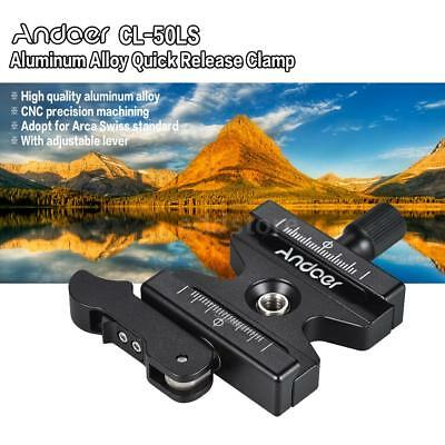 """Andoer CL-50LS Aluminum Alloy Quick Release Clamp with 1/4"""" & 3/8"""" Screw J9Y9"""