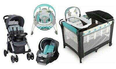 Baby Stroller Car Seat  Infant Bouncer Nursery Playard Crib Travel System Combo