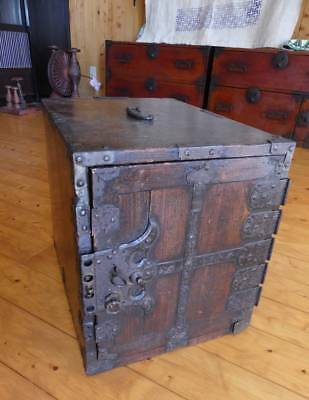 JAPANESE EDO ERA Funa Tansu ANTIQUE 150 YR OLD H38 D43 W33