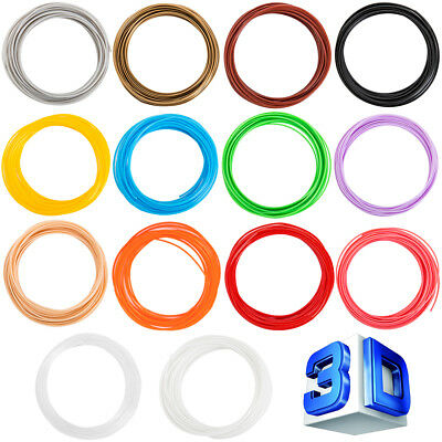 14 Piece 1.75mm ABS 3D Printer Filament for 3D Print Pen Multicolor Pack