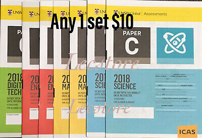 ICAS Past Papers - Year 2 to Year 10 - Any 8 papers $4.50