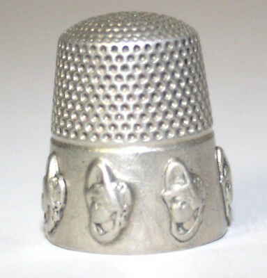 1901 Dolly Varden Thimble Sterling Silver Sz 9 Stern Bros.& Co Fouled Anchor