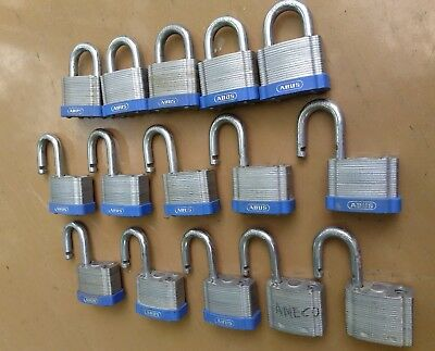 "Lot of 15 ABUS Padlocks 2"", 41/50 No Keys Equal to Master Lock No 5. Permanent"